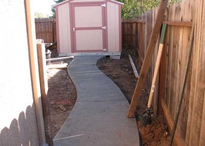 Backyard Renovation Sacramento - During (1)