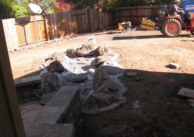 Backyard Renovation Sacramento - During (4)