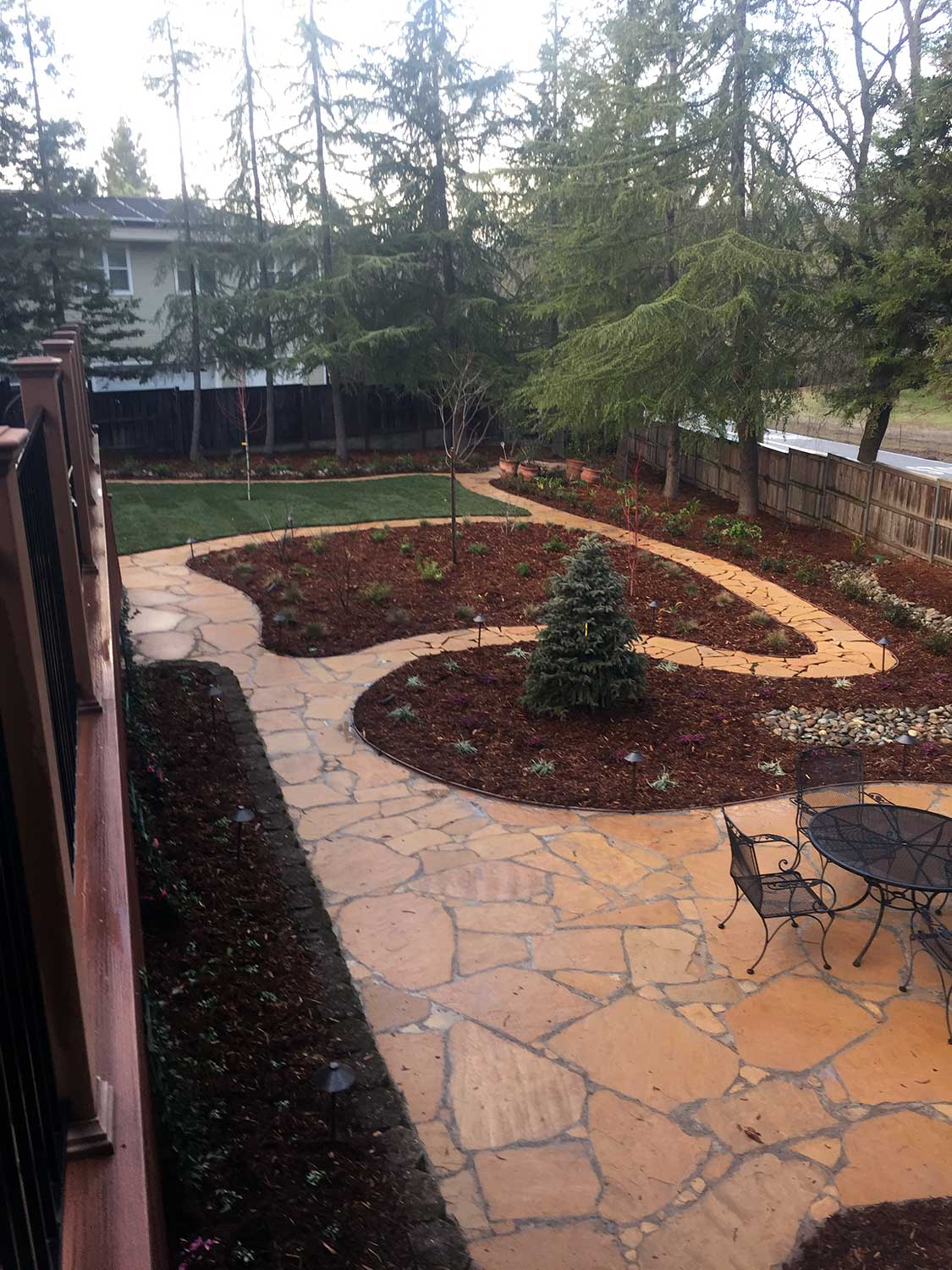 Flagstone Courtyard Installation