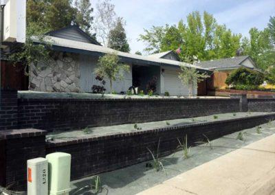 Brick Retaining Wall 1