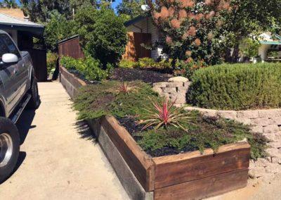 Wood Plank Planter Box
